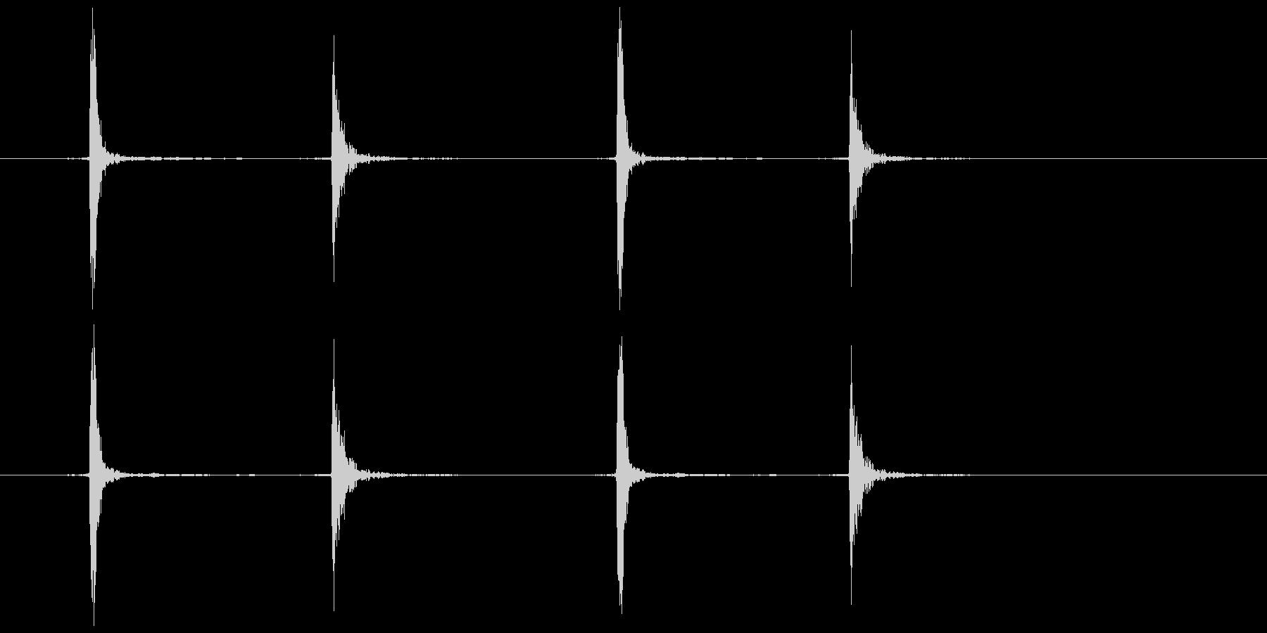 マウスのダブルクリック  (カチカチッ)の未再生の波形