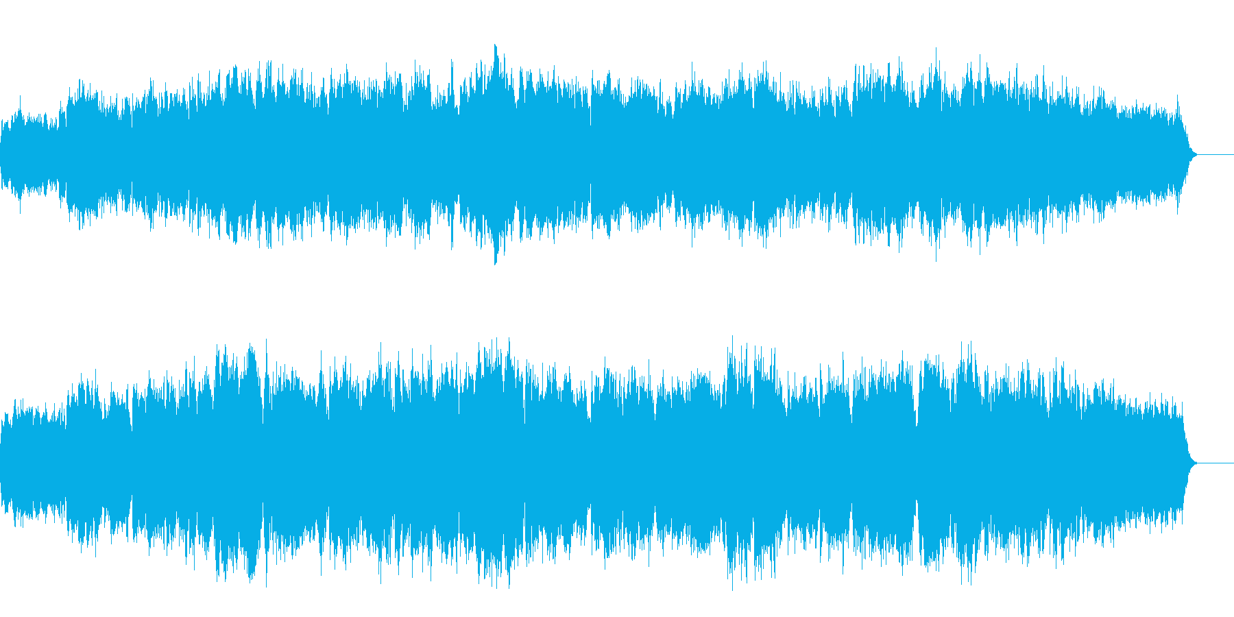 バイオリンのためのオリジナルバロック曲の再生済みの波形