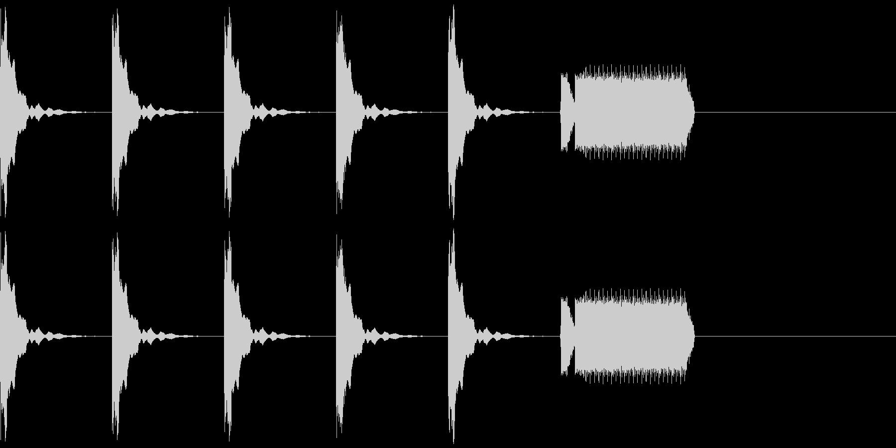 カウントダウン5秒+ホイッスルピッピーの未再生の波形