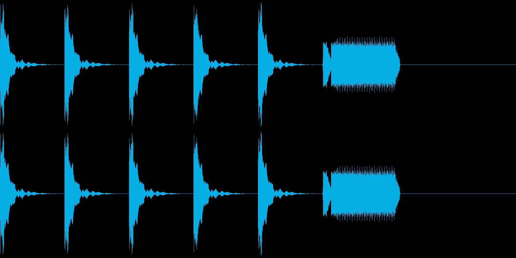 カウントダウン5秒+ホイッスルピッピーの再生済みの波形