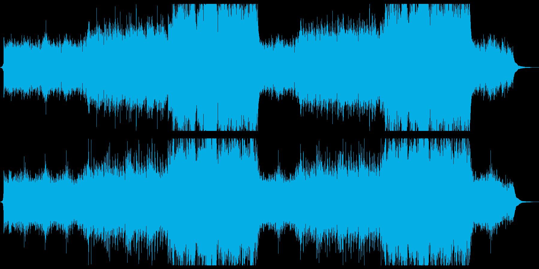 綺麗に盛り上がる壮大なピアノストリングスの再生済みの波形