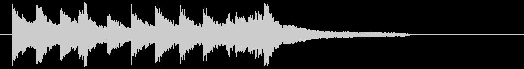 日常、ほのぼのした、綺麗なピアノジングルの未再生の波形