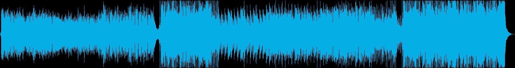 壮大なケルト風BGMの再生済みの波形