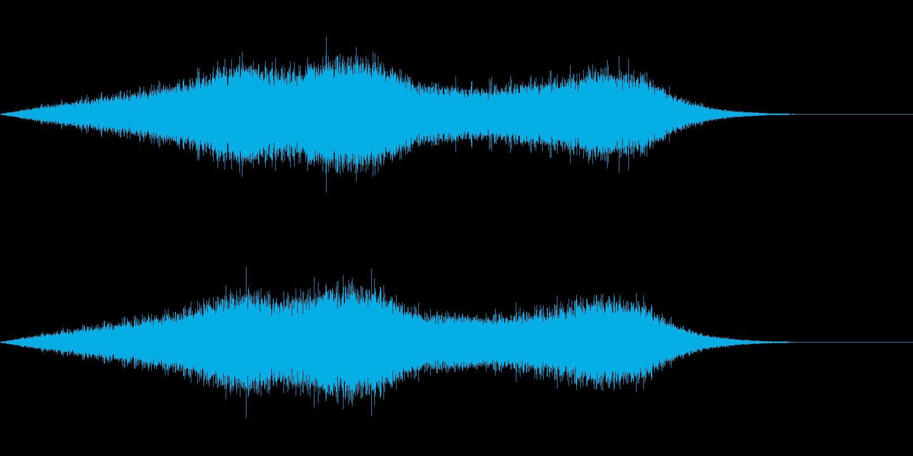 雨の音の再生済みの波形