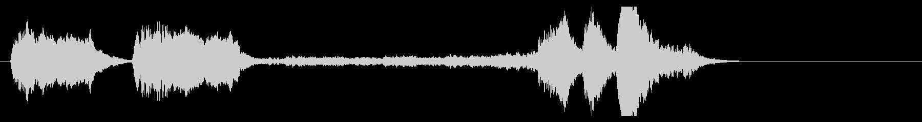 ベートーヴェン交響曲第5番(運命)冒頭の未再生の波形