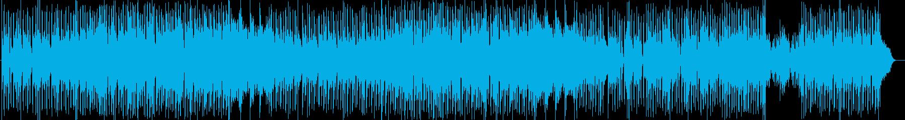 力強いシンセサイザーサウンドの再生済みの波形