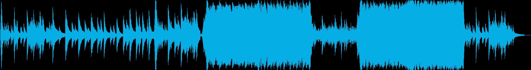 幻想的でゆったりとしたジブリ風BGMの再生済みの波形