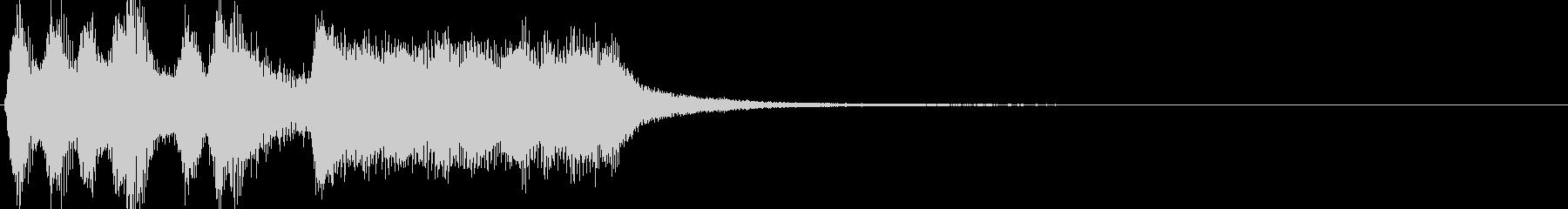 軽い/軽め/小さい ファンファーレ7の未再生の波形
