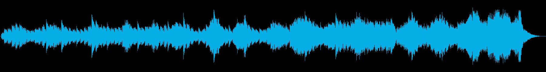 幻想的な美しいピアノのループの曲の再生済みの波形