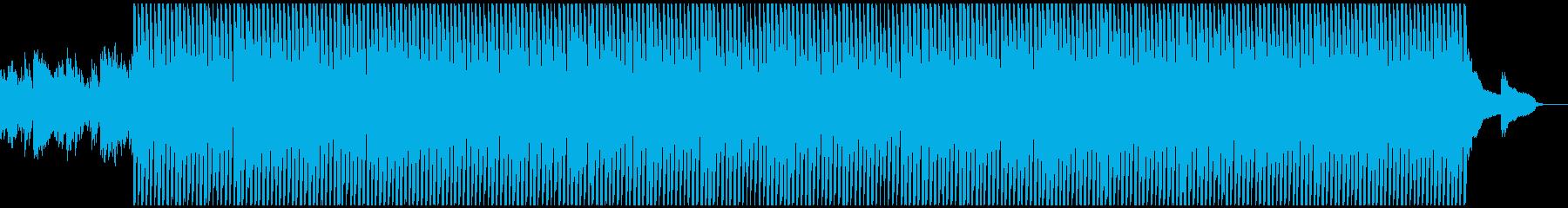 明るい前向きなイメージの曲の再生済みの波形