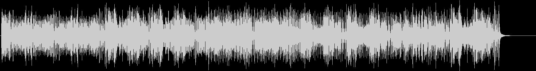 軽快でスピード感あるBGMの未再生の波形