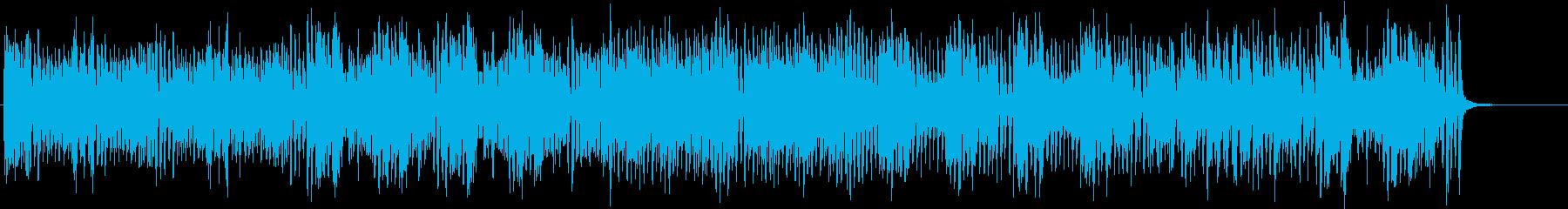 軽快でスピード感あるBGMの再生済みの波形