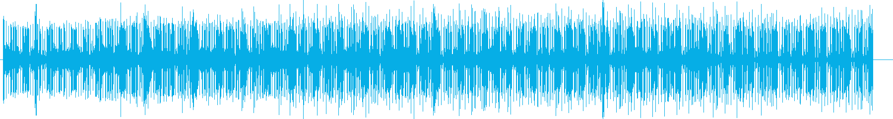 An up-tempo and cool irregular rhythm song's reproduced waveform
