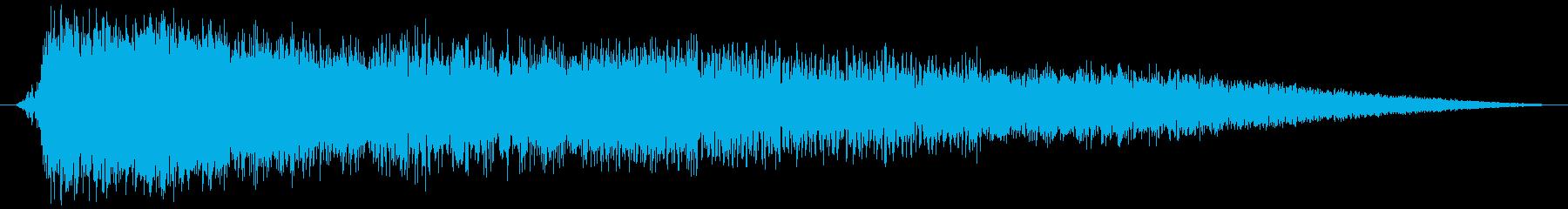 重宇宙船フェイザーリリースまたは魚雷爆発の再生済みの波形
