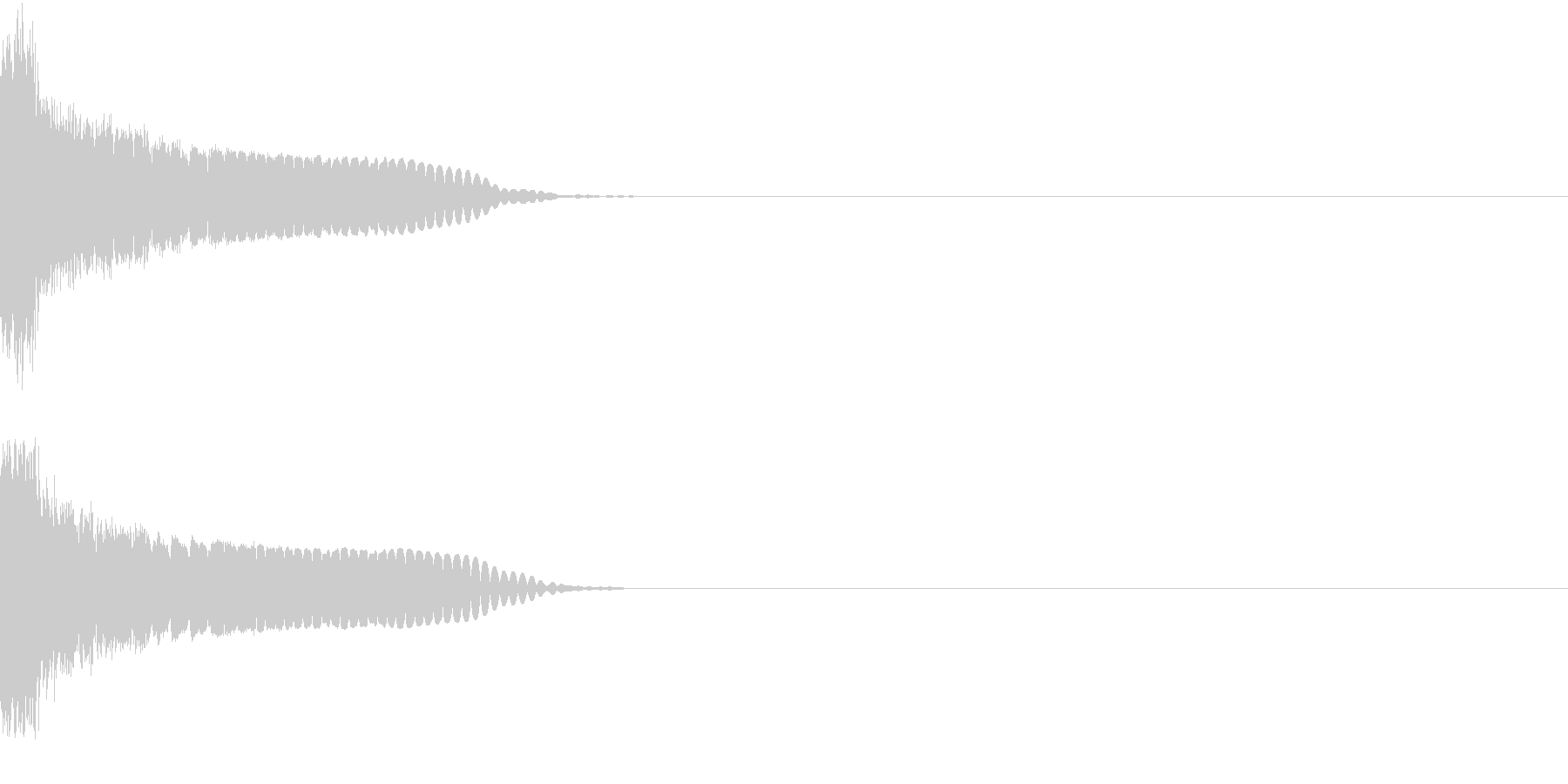 刀 剣 カキーン シャキーン 目立つ11の未再生の波形
