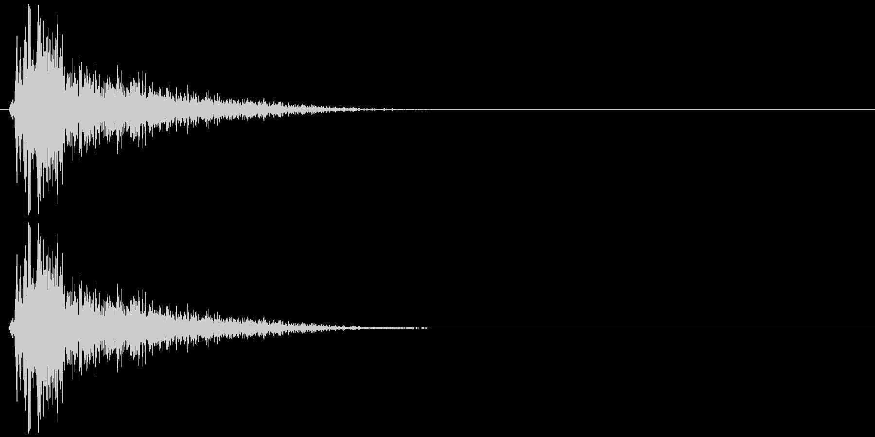 ダメージ音12の未再生の波形