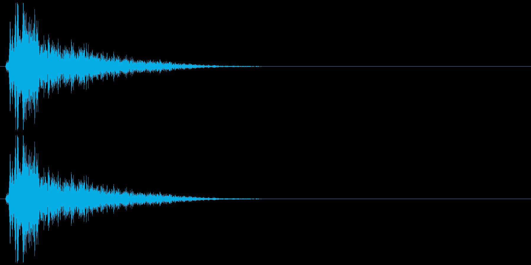ダメージ音12の再生済みの波形