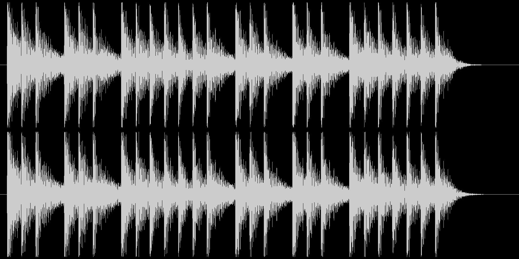 三三七拍子モチーフ力強い和風ジングル 6の未再生の波形