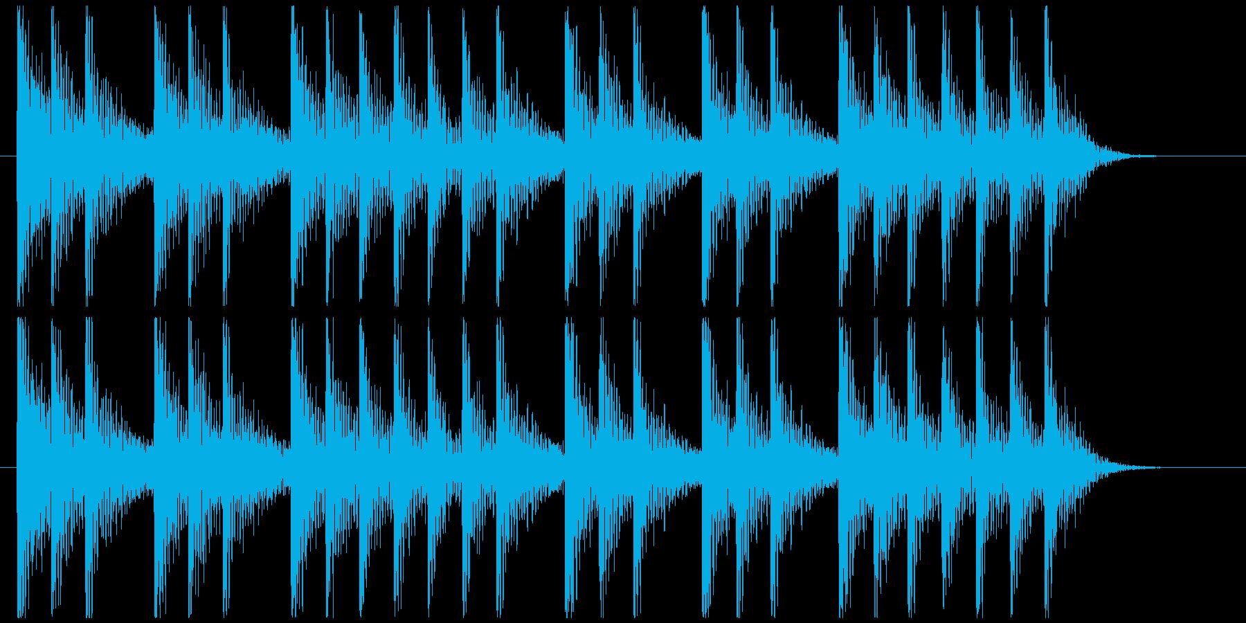 三三七拍子モチーフ力強い和風ジングル 6の再生済みの波形