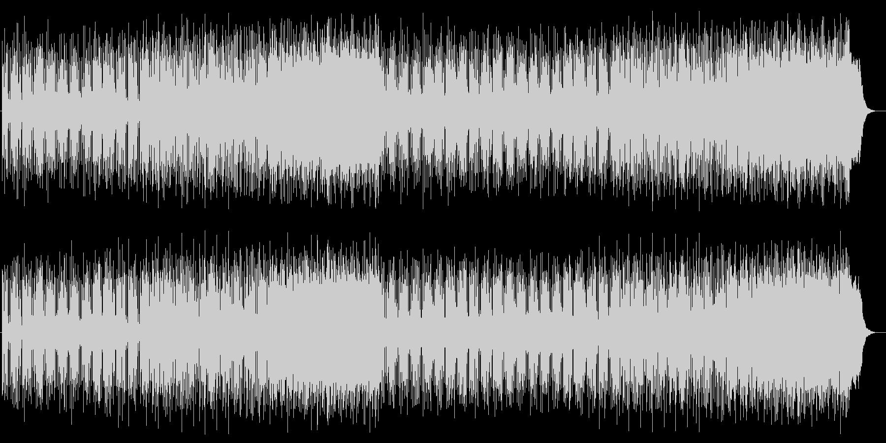 爽かなミディアムテンポのテクノポップの未再生の波形