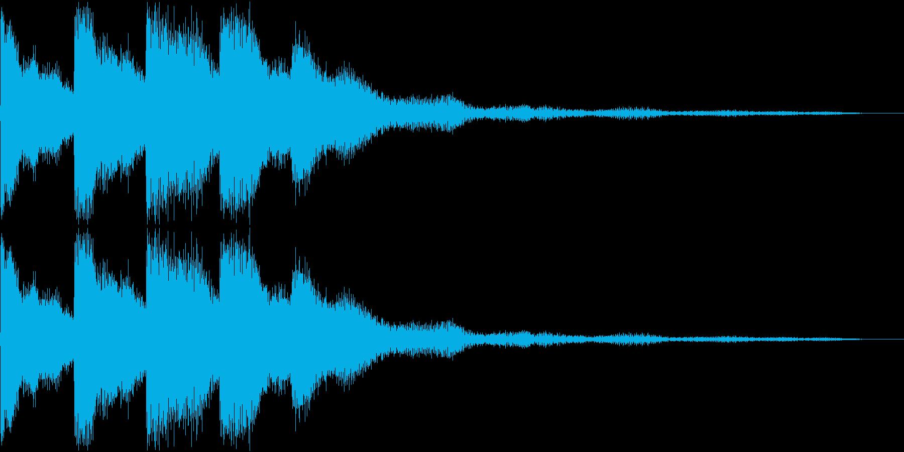 ピロリロ(決定音・ボタン音)の再生済みの波形
