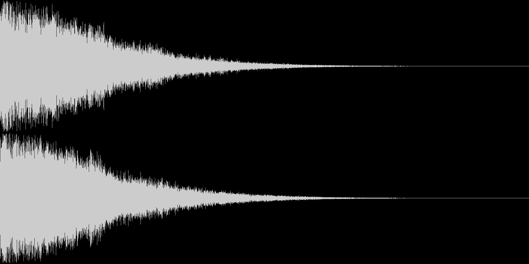 刀 剣 ソード カキーン キュイーン19の未再生の波形