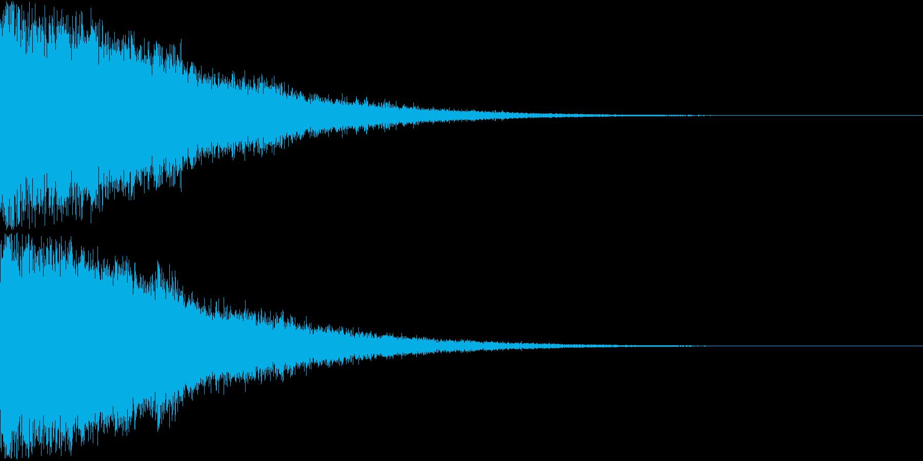 刀 剣 ソード カキーン キュイーン19の再生済みの波形
