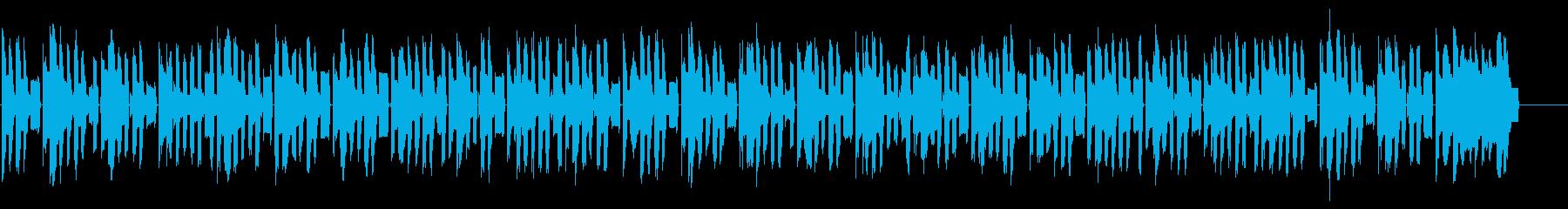 ファミコン調8bitのBGM 1の再生済みの波形