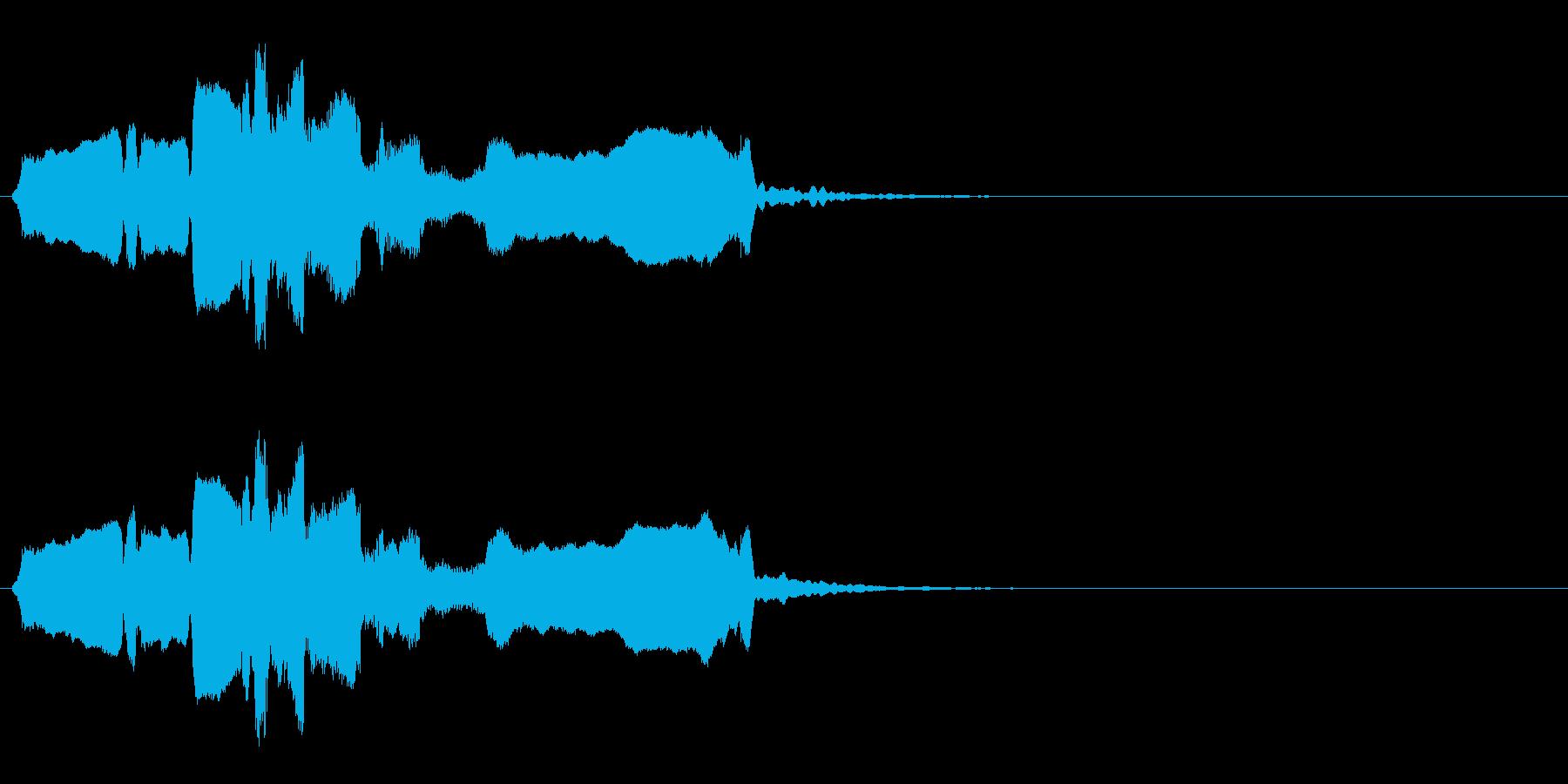 和風アイキャッチ◆篠笛生演奏の和風効果音の再生済みの波形