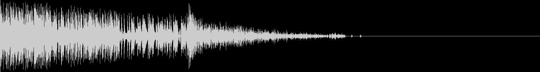 Noise デジタルノイズ レトロ 撃破の未再生の波形