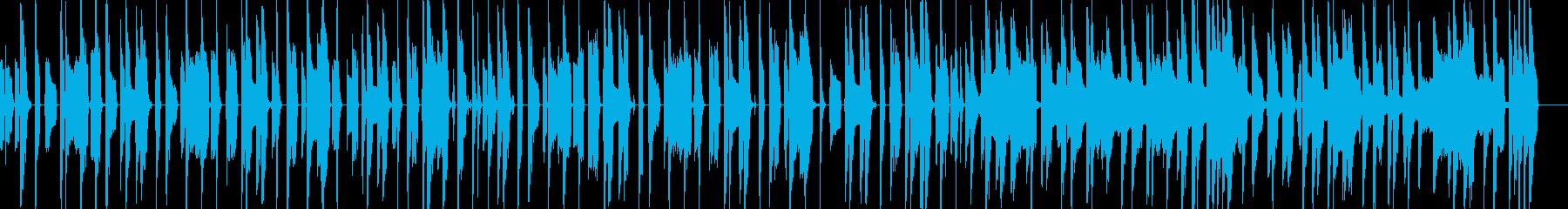 コミカルな日常の再生済みの波形