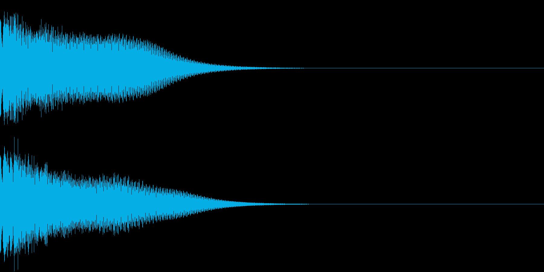 光る  輝く  キュピーン  キラーンGの再生済みの波形