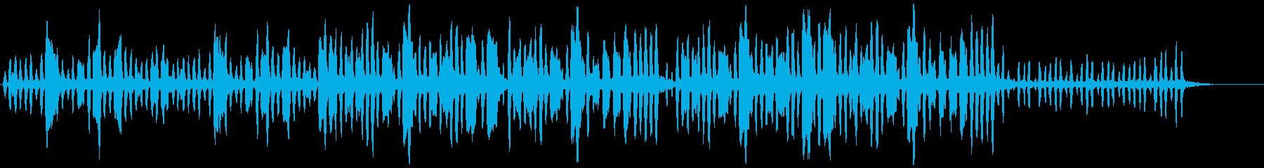 リコーダーの元気で可愛い曲1の再生済みの波形