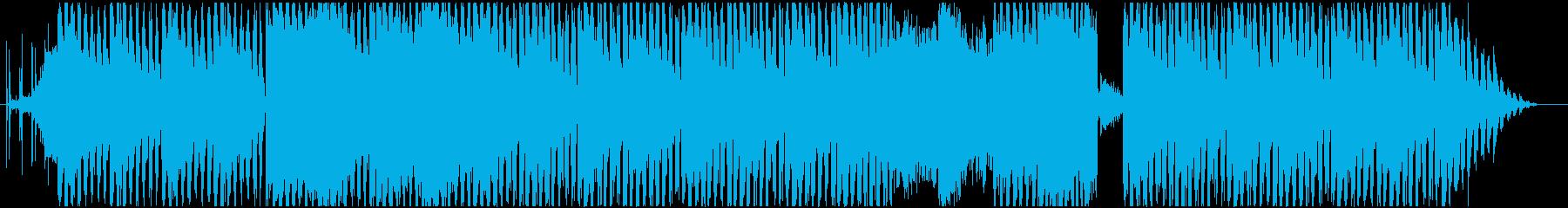 ダークなインダストリアル系のテクノの再生済みの波形