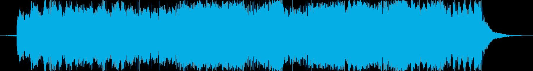 オーケストラとピアノの15秒ジングルの再生済みの波形