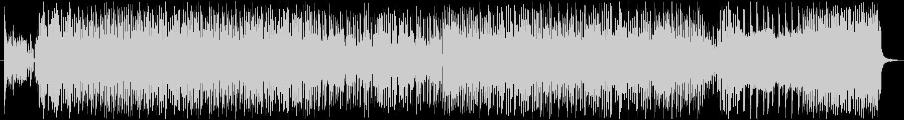 ギャグやコミカルな雰囲気の4つ打ちBGMの未再生の波形