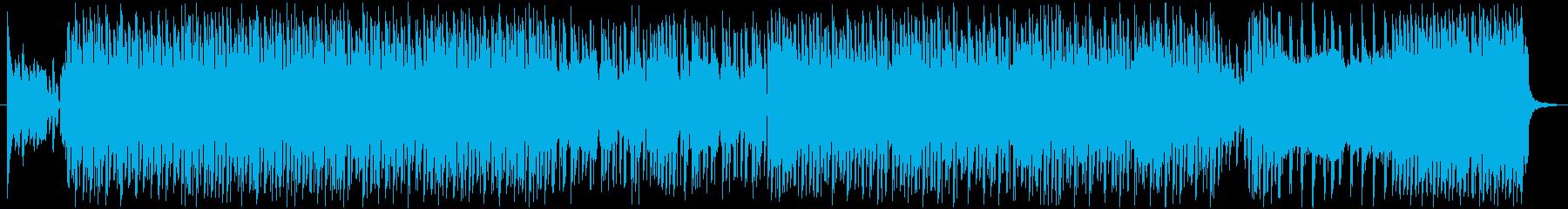ギャグやコミカルな雰囲気の4つ打ちBGMの再生済みの波形