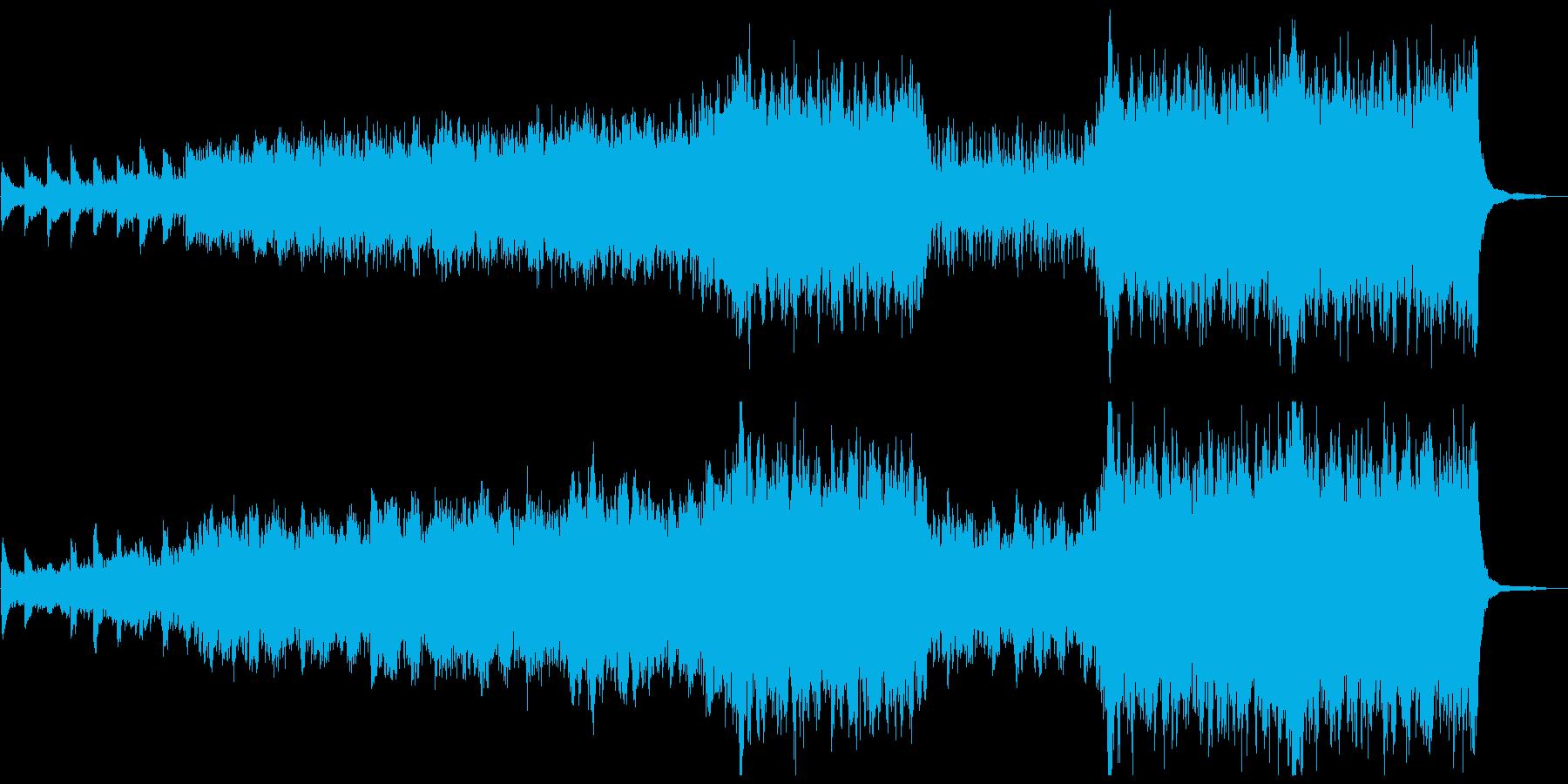 美しく幻想的なピアノとストリングスの曲の再生済みの波形