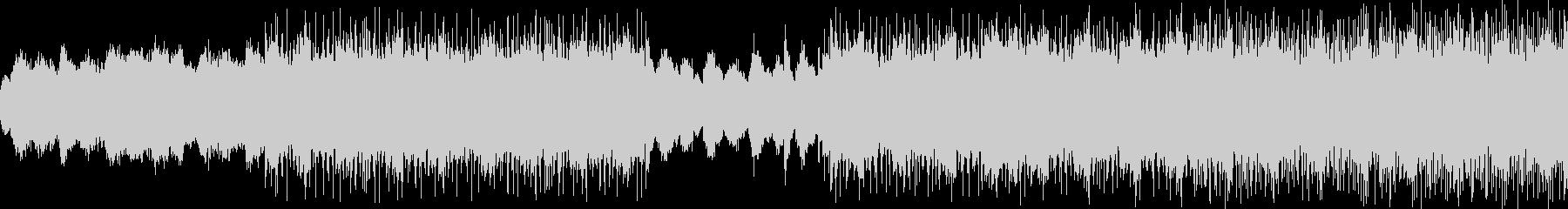 サイバーなBGMの未再生の波形