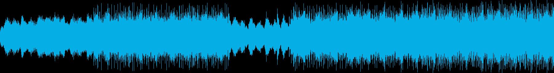サイバーなBGMの再生済みの波形