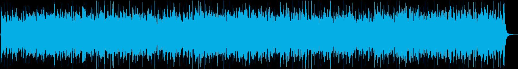スネアの軽快なサウンドとBASSのリズムの再生済みの波形
