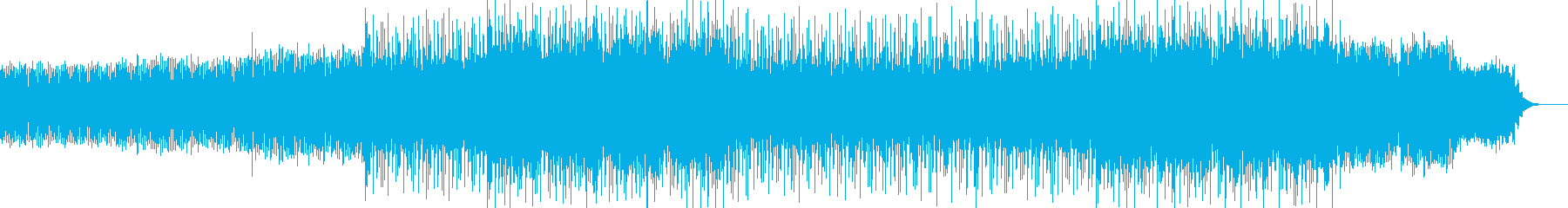 明るく前向きなBGMの再生済みの波形