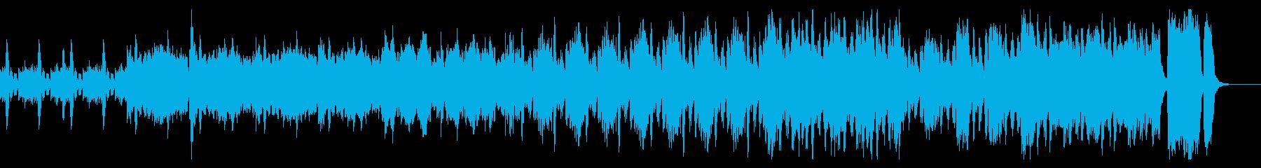 モダンでモードなクールピアノストリングスの再生済みの波形