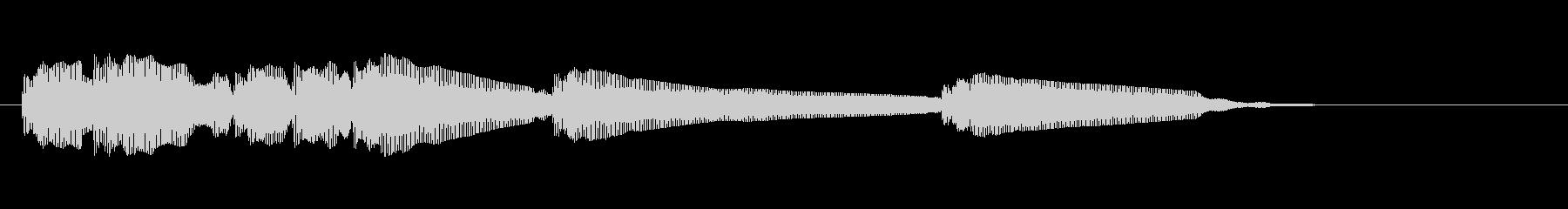 エレキギター5弦チューニング2リバーブの未再生の波形