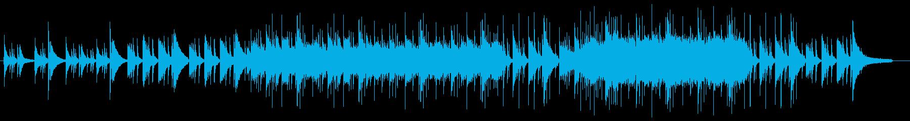 感動シーンのBGMの再生済みの波形
