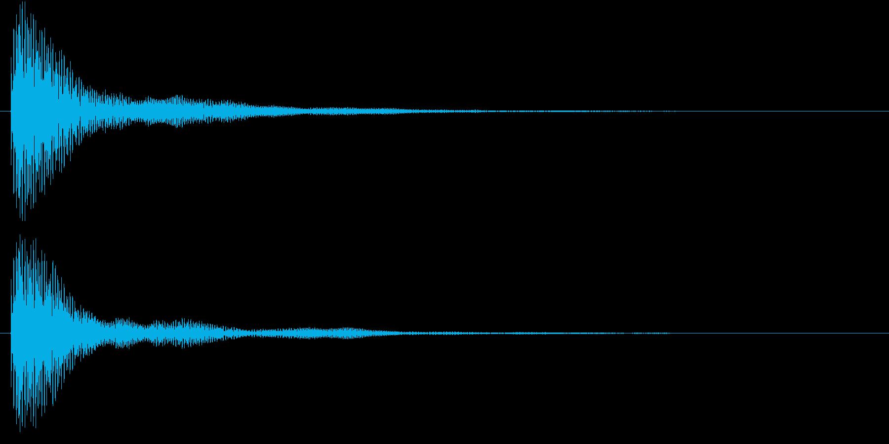 マリンバのクリック音です。の再生済みの波形