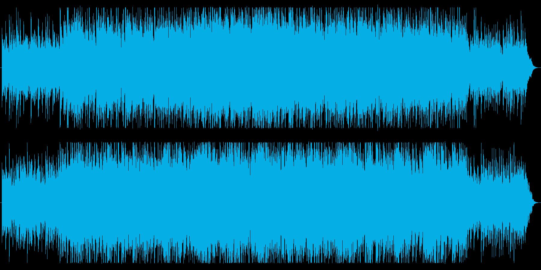 シンセとアコギの穏やかなポップスの再生済みの波形