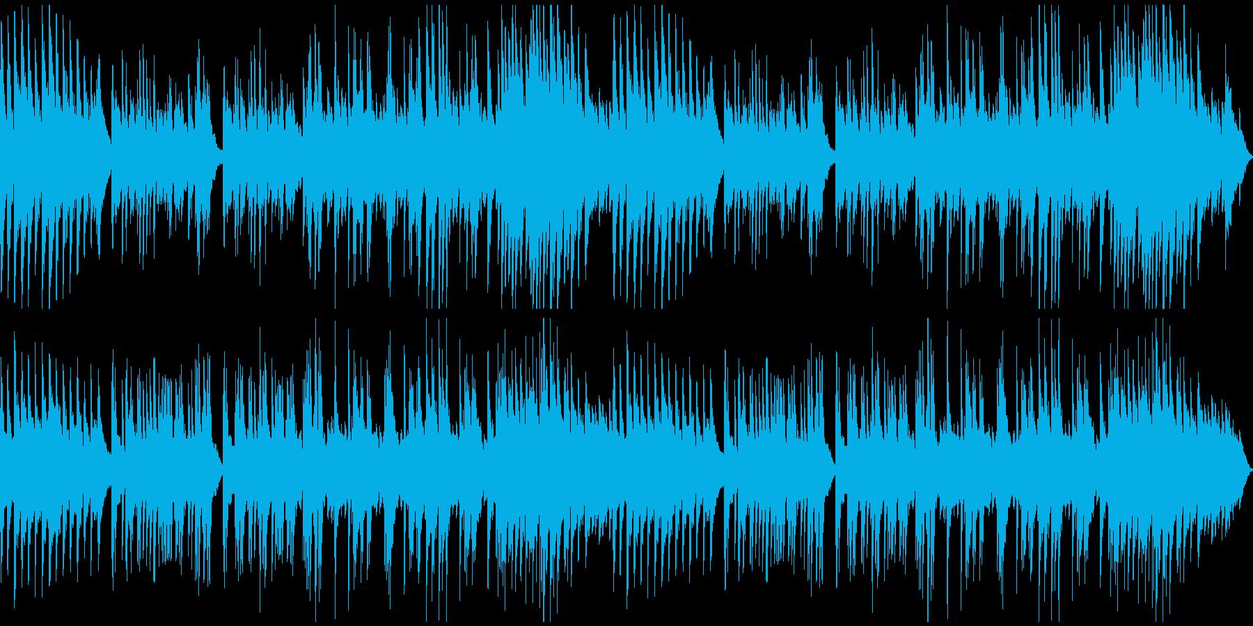 穏やかなソロ・ピアノ曲の再生済みの波形