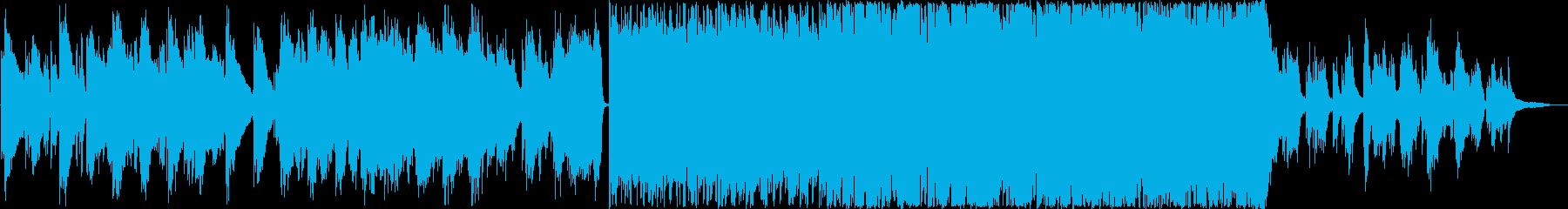 ピアノ・ギター・チェロ前奏曲+激しいソロの再生済みの波形