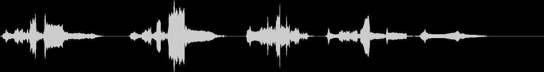 【生演奏】尺八ソロによる汎用的なフレーズの未再生の波形